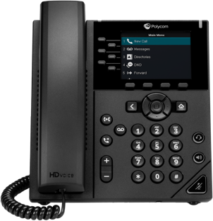 A high-resolution color display IP phone with speakerphone, presence, Gigabit Ethernet, and more. The Polycom VVX 350 is a feature-rich phone that is ideal for advanced users or managers offering additional call handling capabilities.